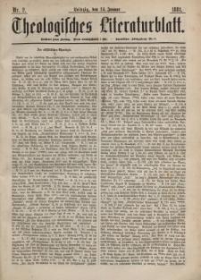 Theologisches Literaturblatt, 14. Januar 1881, Nr 2.
