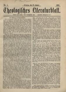 Theologisches Literaturblatt, 28. Januar 1881, Nr 4.