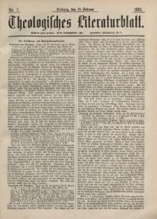 Theologisches Literaturblatt, 18. Februar 1881, Nr 7.