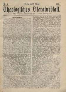 Theologisches Literaturblatt, 25. Februar 1881, Nr 8.