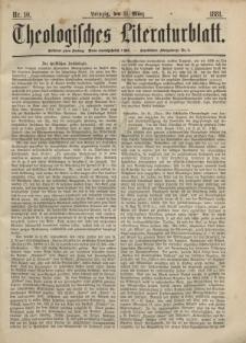 Theologisches Literaturblatt, 11. März 1881, Nr 10.