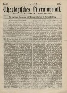 Theologisches Literaturblatt, 1. Juli 1881, Nr 26.