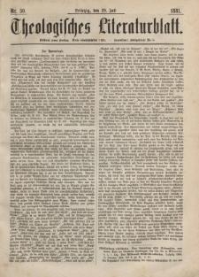 Theologisches Literaturblatt, 29. Juli 1881, Nr 30.