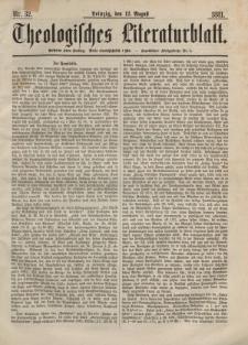 Theologisches Literaturblatt, 12. August 1881, Nr 32.