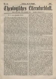 Theologisches Literaturblatt, 26. August 1881, Nr 34.