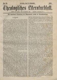 Theologisches Literaturblatt, 30. September 1881, Nr 39.