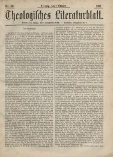 Theologisches Literaturblatt, 7. Oktober 1881, Nr 40.