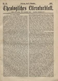 Theologisches Literaturblatt, 18. November 1881, Nr 46.