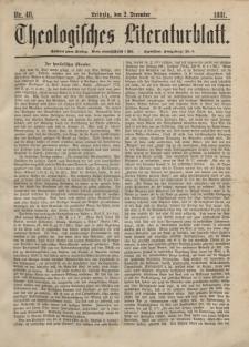 Theologisches Literaturblatt, 2. Dezember 1881, Nr 48.