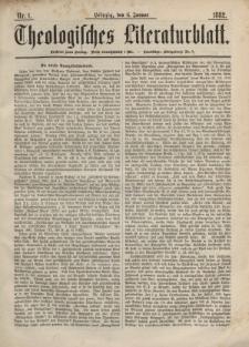 Theologisches Literaturblatt, 6. Januar 1882, Nr 1.
