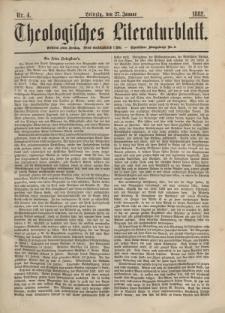 Theologisches Literaturblatt, 27. Januar 1882, Nr 4.