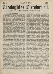Theologisches Literaturblatt, 10. Februar 1882, Nr 6.