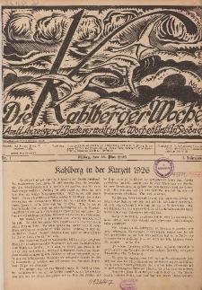 Die Kahlberger Woche Nr. 1, 15. Mai 1926, 1. Jahrgang