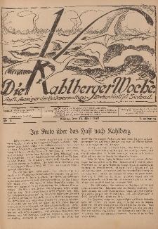 Die Kahlberger Woche Nr. 2, 22. Mai 1926, 1. Jahrgang