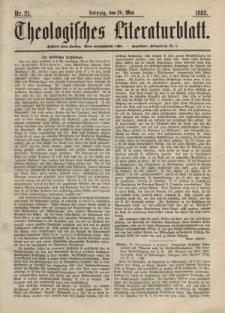 Theologisches Literaturblatt, 26. Mai 1882, Nr 21.