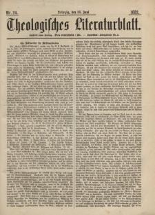 Theologisches Literaturblatt, 16. Juni 1882, Nr 24.