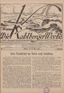 Die Kahlberger Woche Nr. 3, 29. Mai 1926, 1. Jahrgang