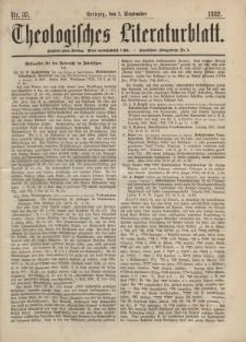 Theologisches Literaturblatt, 1. September 1882, Nr 35.