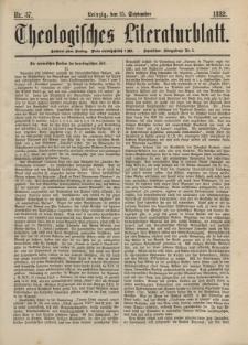 Theologisches Literaturblatt, 15. September 1882, Nr 37.