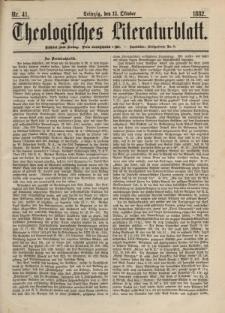 Theologisches Literaturblatt, 13. Oktober 1882, Nr 41.