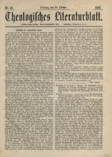 Theologisches Literaturblatt, 20. Oktober 1882, Nr 42.