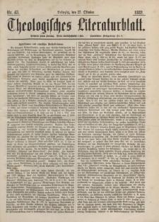 Theologisches Literaturblatt, 27. Oktober 1882, Nr 43.