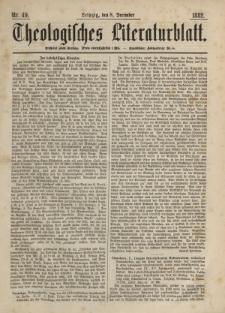 Theologisches Literaturblatt, 8. Dezember 1882, Nr 49.