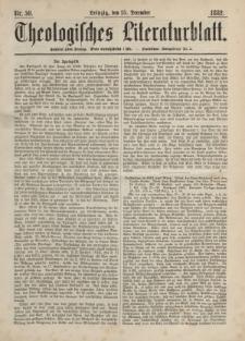 Theologisches Literaturblatt, 15. Dezember 1882, Nr 50.