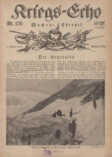 Kriegs-Echo: Wochen=Chronic, 5. Januar 1917, Nr 126.