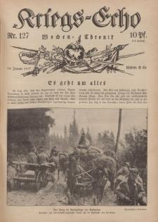 Kriegs-Echo: Wochen=Chronic, 12. Januar 1917, Nr 127.