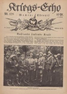 Kriegs-Echo: Wochen=Chronic, 19. Januar 1917, Nr 128.