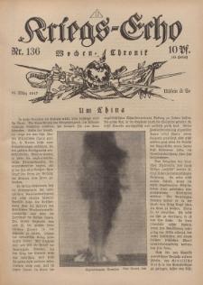 Kriegs-Echo: Wochen=Chronic, 16. März 1917, Nr 136.