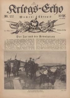 Kriegs-Echo: Wochen=Chronic, 23. März 1917, Nr 137.
