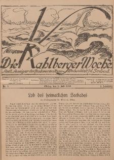 Die Kahlberger Woche Nr. 8, 3. Juli 1926, 1. Jahrgang