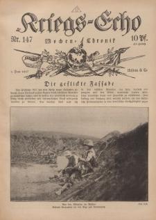 Kriegs-Echo: Wochen=Chronic, 1. Juni 1917, Nr 147.