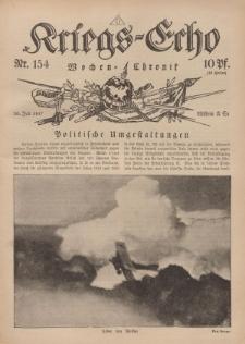 Kriegs-Echo: Wochen=Chronic, 20. Juli 1917, Nr 154.