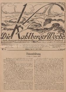 Die Kahlberger Woche Nr. 10, 17. Juli 1926, 1. Jahrgang