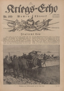 Kriegs-Echo: Wochen=Chronic, 2. November 1917, Nr 169.