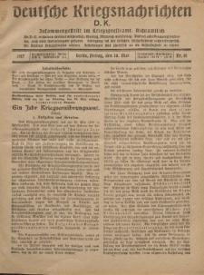 Deutsche Kriegsnachrichten (D.K.), Freitag, 18. Mai 1917, Nr 81.