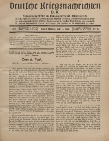 Deutsche Kriegsnachrichten (D.K.), Montag, 11. Juni 1917, Nr 90.