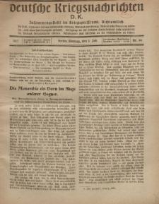 Deutsche Kriegsnachrichten (D.K.), Montag, 2. Juli 1917, Nr 99.