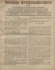 Deutsche Kriegsnachrichten (D.K.), Mittwoch, 11. Juli 1917, Nr 103.