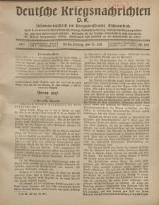 Deutsche Kriegsnachrichten (D.K.), Freitag, 13. Juli 1917, Nr 104.