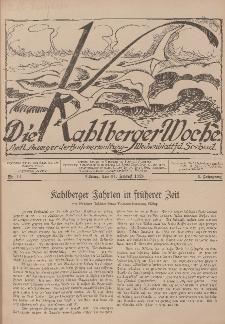 Die Kahlberger Woche Nr. 14, 14. August 1926, 1. Jahrgang