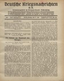Deutsche Kriegsnachrichten (D.K.), Freitag, 27. Juli 1917, Nr 110.