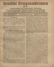 Deutsche Kriegsnachrichten (D.K.), Montag, 30. Juli 1917, Nr 111.