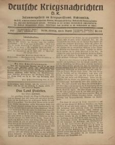 Deutsche Kriegsnachrichten (D.K.), Montag, 6. August 1917, Nr 114.