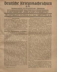Deutsche Kriegsnachrichten (D.K.), Mittwoch, 15. August 1917, Nr 118.
