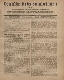 Deutsche Kriegsnachrichten (D.K.), Freitag, 17. August 1917, Nr 119.