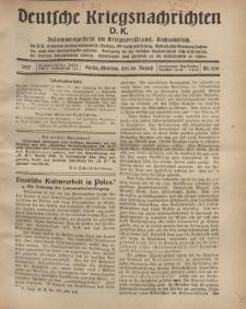 Deutsche Kriegsnachrichten (D.K.), Montag, 20. August 1917, Nr 120.